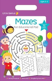 Mazes Fun Educational Pad | Paperback Book