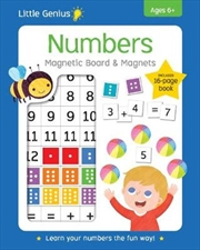 Numbers Board & Magnets Little Genius | Paperback Book