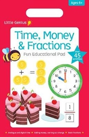 Time, Money & Fractions Fun Educational Pad | Paperback Book