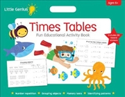 Times Table Fun Educational Activity Book Little Genius | Paperback Book