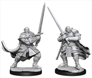 Dungeons & Dragons - Nolzur's Marvelous Unpainted Minis: Half-Orc Paladin Male | Games