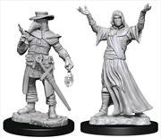 WizKids - Deep Cuts Unpainted Miniatures: Plague Doctor & Cultist | Games