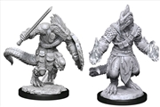 Dungeons & Dragons - Nolzur's Marvelous Unpainted Minis: Lizardfolk Barbarian & Cleric | Games