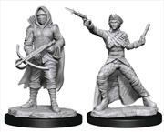 WizKids - Deep Cuts Unpainted Miniatures: Bounty Hunter & Outlaw | Games