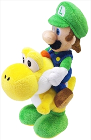 Super Mario Bros Plush Luigi Riding Yoshi 8' | Toy