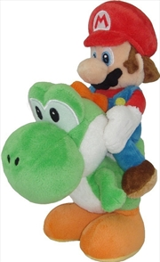 Super Mario Bros Plush Mario Riding Yoshi 8' | Toy
