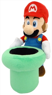 Super Mario Bros Plush Mario Warp Pipe 9' | Toy