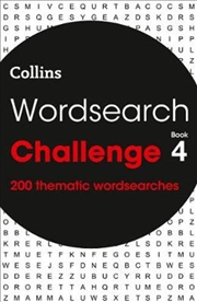 Wordsearch Challenge: Book 4: 200 Thematic Wordsearches | Paperback Book