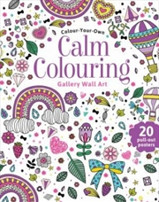 Calm Colouring Wall Art | Paperback Book
