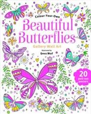 Beautiful Butterflies Wall Art   Paperback Book