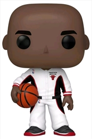 NBA - Michael Jordan (Bulls White Warmup) US Exclusive Pop! Vinyl [RS] | Pop Vinyl