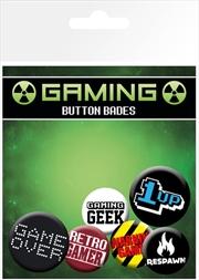 Gaming Retro Gamer Badge 6 Pack | Merchandise