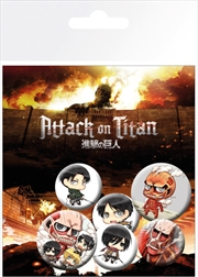 Attack on Titan Chibi Mix Badge 6 Pack | Merchandise