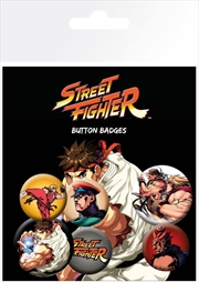 Street Fighter Badge 6 Pack | Merchandise