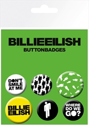 Billie Eilish Stickman Badge 6 Pack | Merchandise