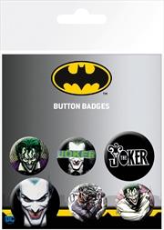 DC Comics Joker Badge 6 Pack | Merchandise