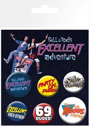 Bill and Teds Excellent Adventure Badge 6 Pack | Merchandise