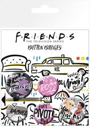 Friends Doodle Badge 6 Pack | Merchandise