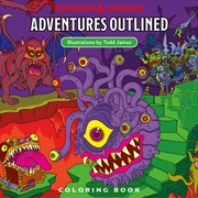 D&D Dungeons & Dragons Adventures Outlined Coloring Book | Books