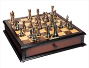 Kasparov Grandmaster Silver & Bronze Chess Set | Merchandise