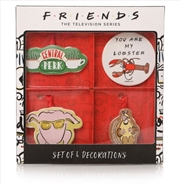 Friends - Decorations Set of 4 | Collectable