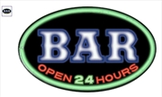 BAR Open 24 Hours Rope LED Oval Wall Sign Light | Accessories