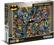 Clementoni Puzzle Batman Impossible Puzzle 1,000 pieces | Merchandise