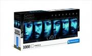 Clementoni Puzzle Game of Thrones Panorama Puzzle 1,000 pieces | Merchandise