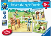 A Day At The Stables 3 X 49 Piece Puzzle   Merchandise
