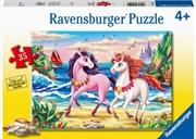 Beach Unicorns 35 Piece Puzzle   Merchandise