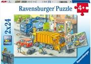 Working Trucks 2 X 24 Piece Puzzle | Merchandise