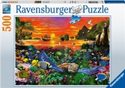 Turtle In The Reef 500 Piece Puzzle | Merchandise