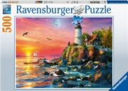 Lighthouse At Sunset 500pc Puzzle | Merchandise