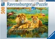 Lions In The Savannah 500 Piece Puzzle | Merchandise