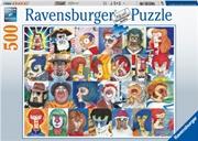 Typefaces Puzzle 500 Piece Puzzle | Merchandise
