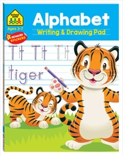 School Zone Alphabet Writing and Drawing Pad | Books