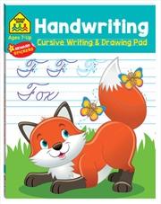 School Zone: Handwriting Cursive Writing and Drawing Pad   Books
