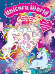 Puffy Sticker Jewel Unicorn World   Books