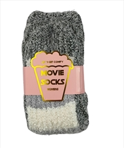 Grey And White Top - Movie Socks | Apparel