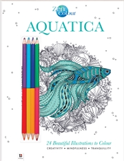 Zen Colour with Pencils: Aquatica | Colouring Book