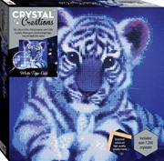 Crystal Creations Canvas: White Tiger Cub | Merchandise