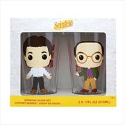 Seinfeld - Jerry & George Pop! Glass Set 2-pack   Merchandise