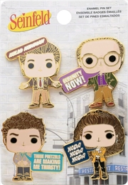 Seinfeld - Pop! & Quotes Enamel Pin 4-pack | Merchandise
