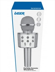 LED Karaoke Microphone Silver | Hardware Electrical