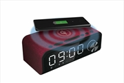 Laser - Fabric Qi Wireless Charging Alarm With Bluetooth Speaker - Red | Accessories