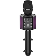 Laser Karaoke LED Microphone - Black | Hardware Electrical