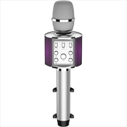 Laser Karaoke LED Microphone - Silver | Hardware Electrical