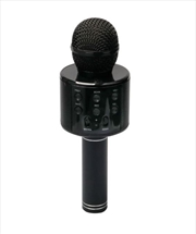 Laser - LED Karaoke Microphone Black | Hardware Electrical