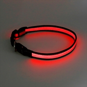 Laser - Mighty Pet Rechargeable LED Reflective Collar Large Size - Red | Merchandise