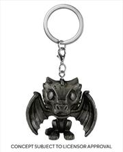 Game of Thrones - Drogon (Iron) Pocket Pop! Keychain | Pop Vinyl